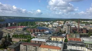 sky bar view, Tampere  June 2015